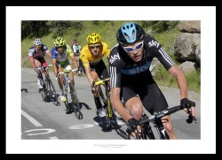 2012 Tour de France Chris Froome & Bradley Wiggins Photo Memorabilia