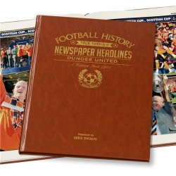 Personalised Dundee United Historic Newspaper Memorabilia Book