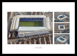 Everton FC Goodison Park Stadium Aerial Photo Memorabilia
