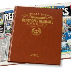 Personalised Everton FC Historic Newspaper Memorabilia Book