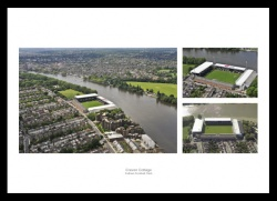 Fulham FC Craven Cottage Stadium Aerial Photo Memorabilia