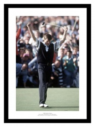 Nick Faldo Wins 1990 British Open Golf Photo Memorabilia