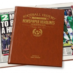 Personalised Hibernian FC Historic Newspaper Memorabilia Book