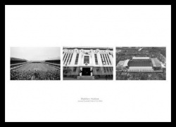 Highbury Stadium Historic Arsenal Triple Photo Memorabilia