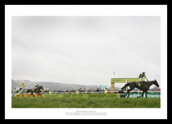 Denman Beats Kauto Star 2008 Cheltenham Gold Cup Photo Memorabilia