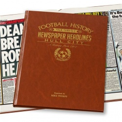 Personalised Hull City Historic Newspaper Memorabilia Book