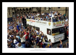 Leeds United 1992 League Champions Open Top Bus Photo Memorabilia