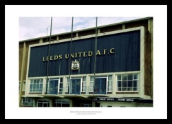 Elland Road Main Stand Entrance 1970s Photo