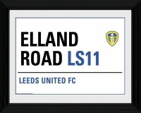 Elland Road Stadium Street Sign Framed Print