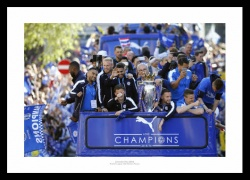 Leicester City 2016 Premier League Winners Parade Photo Memorabilia