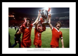 Liverpool FC 1978 European Cup Final '3 Legends' Photo Memorabilia