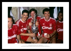 Liverpool FC 1990 League Champions Team Photo Memorabilia