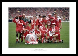 Liverpool FC 1992 FA Cup Final Team Photo Memorabilia