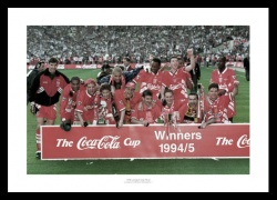 Liverpool FC 1995 League Cup Final Team Photo Memorabilia