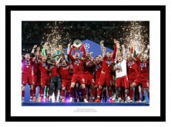 Liverpool FC 2019 Champions League Final Team Celebrations Photo Memorabilia