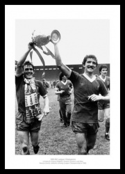 Liverpool 1986 League Champions Dalglish & Souness Photo Memorabilia