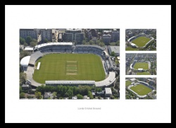 Lords Cricket Ground Aerial Photo Memorabilia Montage