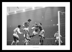 George Best Scores 1967 Manchester United Photo Memorabilia