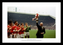 Matt Busby Manchester United 1967 League Champions Photo Memorabilia