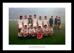 Manchester United 1991 European Cup Winners Cup Photo Memorabilia