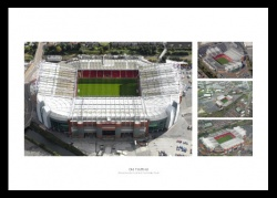 Manchester United Old Trafford Stadium Aerial Photo Memorabilia