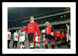 Manchester United Legends Cantona & Schmeichel 1996 Photo Memorabilia