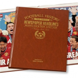 Personalised Manchester United Historic Newspaper Memorabilia Book