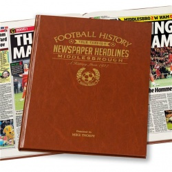 Personalised Middlesbrough FC Historic Newspaper Memorabilia Book