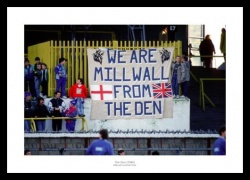 Millwall FC Fans at Old Den Stadium 1989 Photo Memorabilia