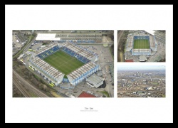 Millwall FC The Den Stadium Aerial Photo Memorabilia Montage