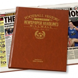 Personalised Millwall FC Historic Newspaper Memorabilia Book