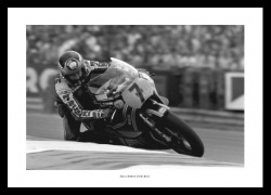 Barry Sheene Print - Racing at Brands Hatch Motorcycle Photo