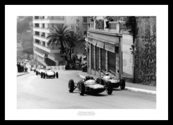 Jim Clark & Stirling Moss 1961 Monaco Grand Prix Photo Memorabilia