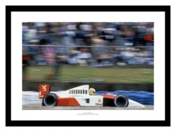 Ayrton Senna 1991 British Grand Prix Formula One Photo Memorabilia