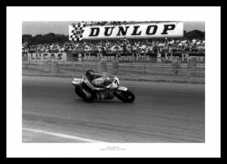 Barry Sheene Print - Silverstone British Grand Prix Motorcycle Memorabilia