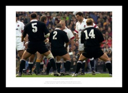 England Rugby Print - Facing the Haka in 1997