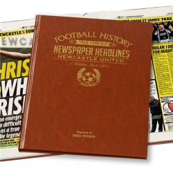 Personalised Newcastle United Historic Newspaper Memorabilia Book