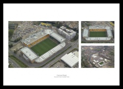 Norwich City Carrow Road Stadium Aerial Views Photo Montage