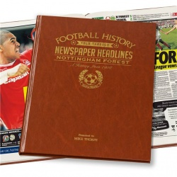Personalised Nottingham Forest Historic Newspaper Memorabilia Book