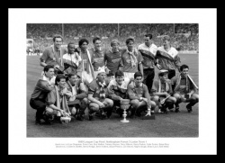 Nottingham Forest 1989 League Cup Final Team Photo Memorabilia