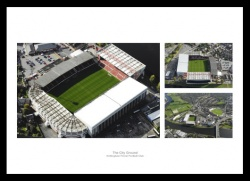 Nottingham Forest The City Ground Aerial Photo Memorabilia