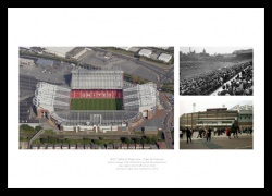 Manchester United Old Trafford Past and Present Photo Memorabilia