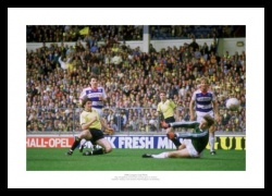 Oxford United 1986 League Cup Final Houghton Goal Photo Memorabilia