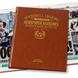 Personalised Queens Park Rangers Historic Newspaper Memorabilia Book