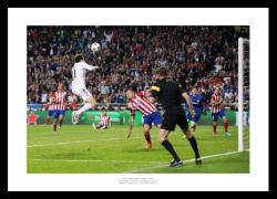 Real Madrid 2014 Champions League Final Bale Goal Photo Memorabilia