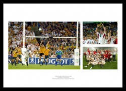 England Rugby 2003 Rugby World Cup Final Photo Memorabilia