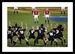 The British & Irish Lions Photo - Facing the Haka Print Memorabilia