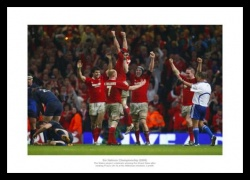 Wales Rugby 2008 Grand Slam Team Celebrations Photo Memorabilia