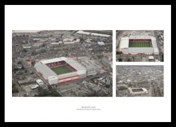 Sheffield United Bramall Lane Aerial Views Photo Memorabilia