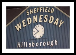 Sheffield Wednesday Hillsborough Stadium Clock Photo Memorabilia
